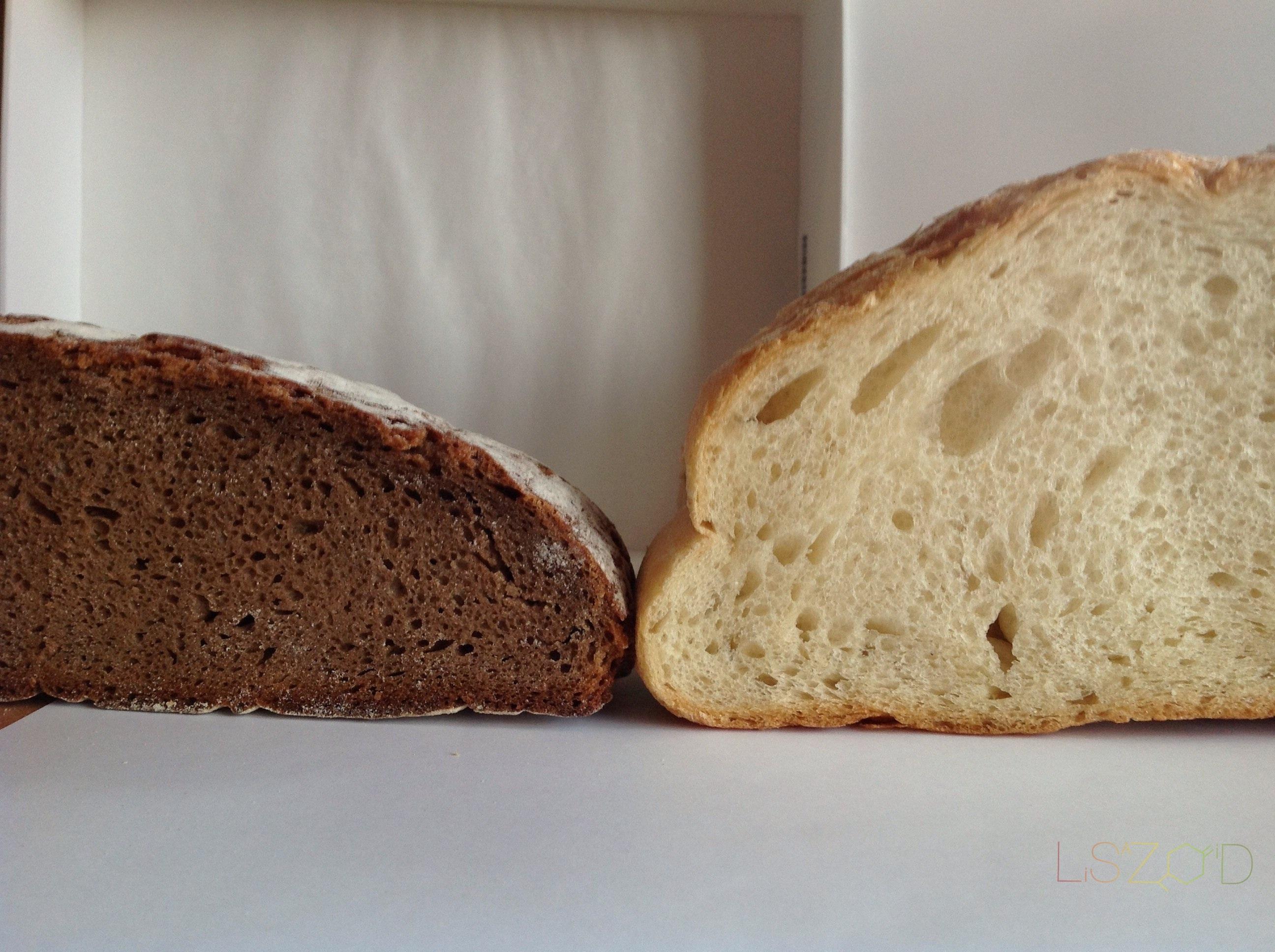 Poređenje ražano i pšeničnog hleba