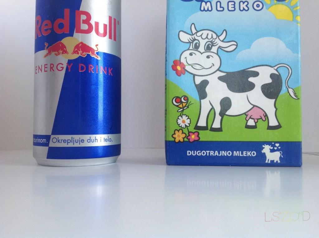 Mleko i red bull