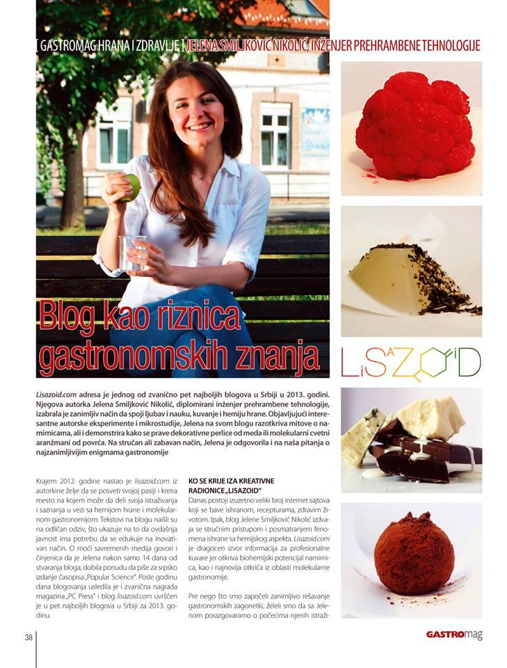 Lisazoid u časopisu Gastromag